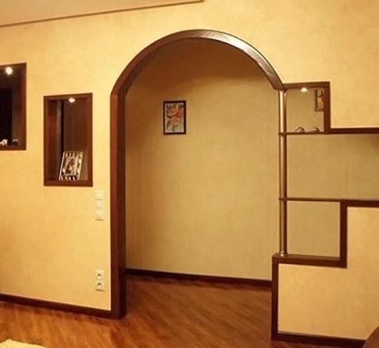 Мягкие очертания эллипса –элегантная арка для дома