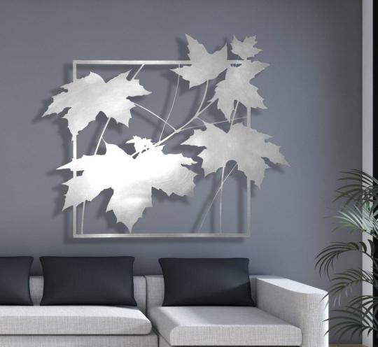 Декоративное настенное украшение «Листья в рамке»