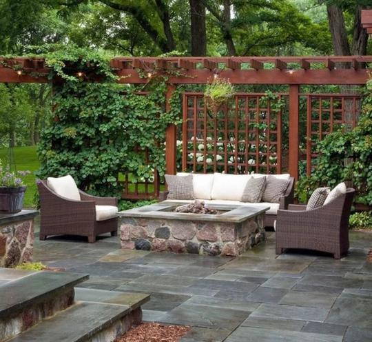 Патио – зона для отдыха внутри двора