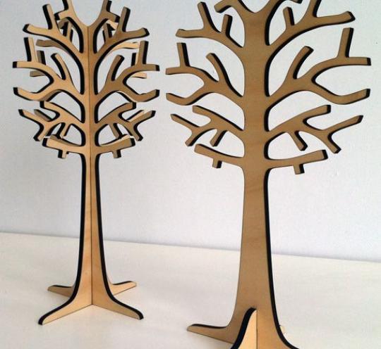 Деревья - объемные фигуры из дерева
