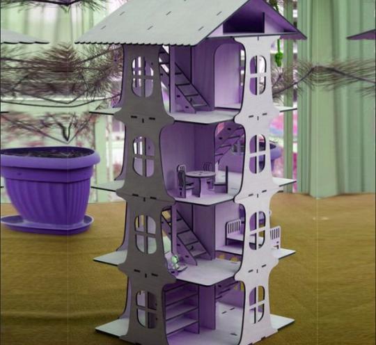 Многоэтажный кукольный дом