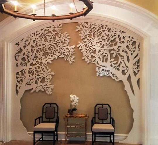 Уникальный декор стены