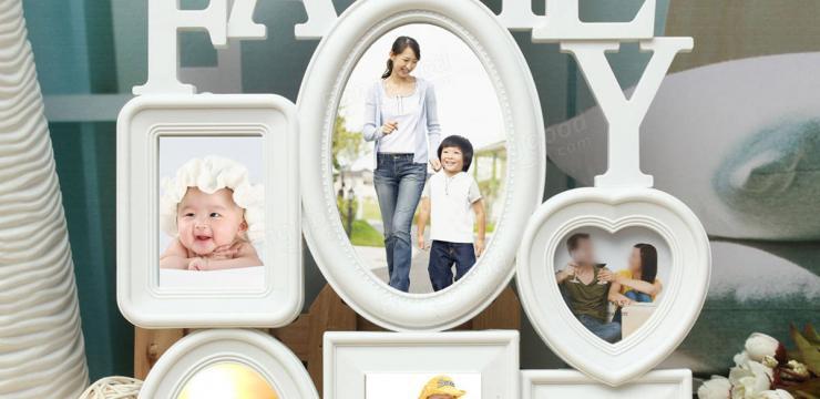 Семейная фоторамка – коллаж на 6 фотографий
