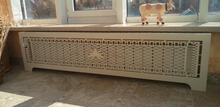 Декоративная панель для нестандартного радиатора