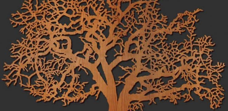 Оригинальное панно на стену «Дерево»