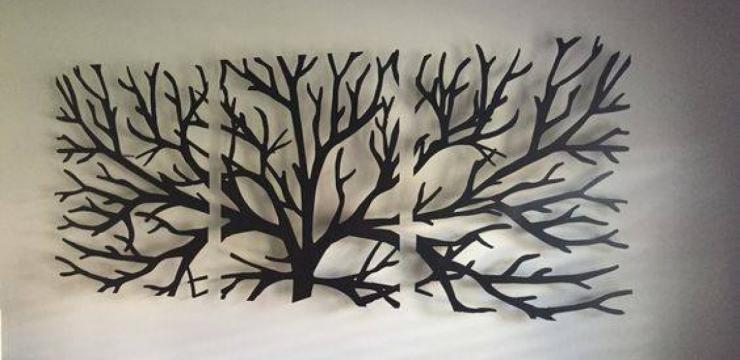 Изысканный декор из веток дерева