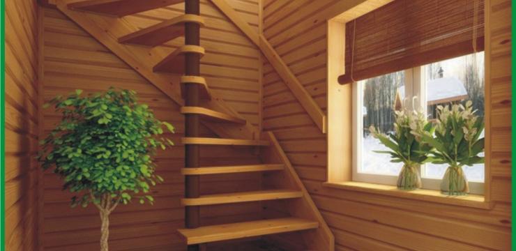 Уникальная винтовая лестница для малогабаритного помещения