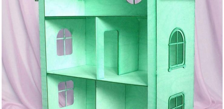 Зеленый дом для кукол