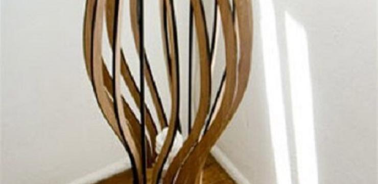 Шикарный деревянный торшер