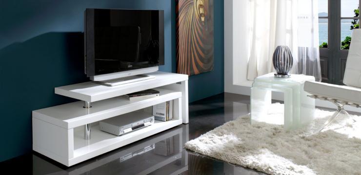 Компактная тумба под телевизор в современном стиле