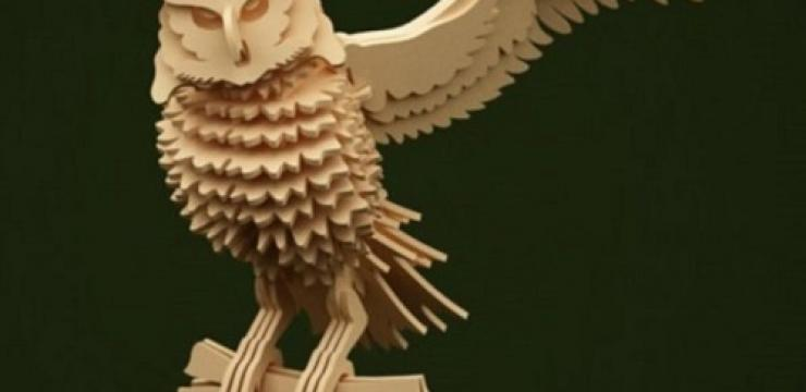 Объемная деревянная фигура Сова