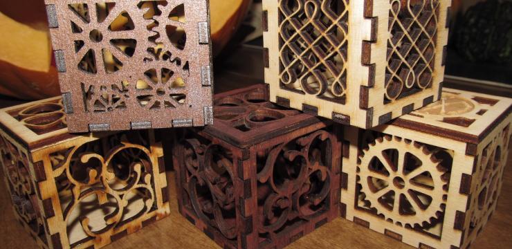 Оригинальная упаковка из дерева