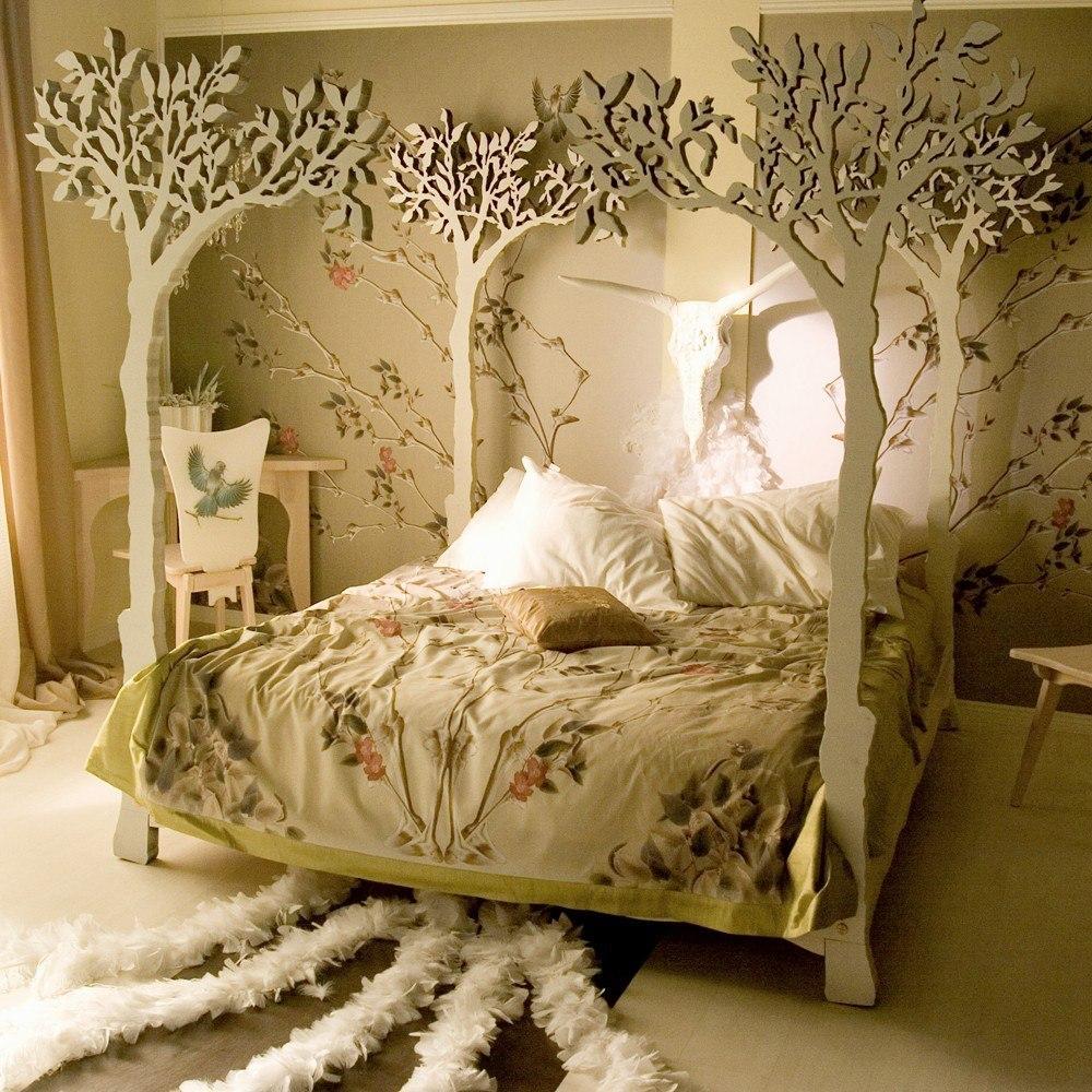 Оригинальная кровать – креативное решение интерьера спальни