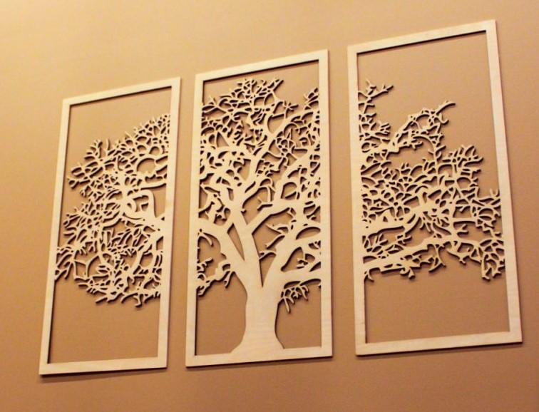 Настенное украшение «Дерево» в декоративной раме