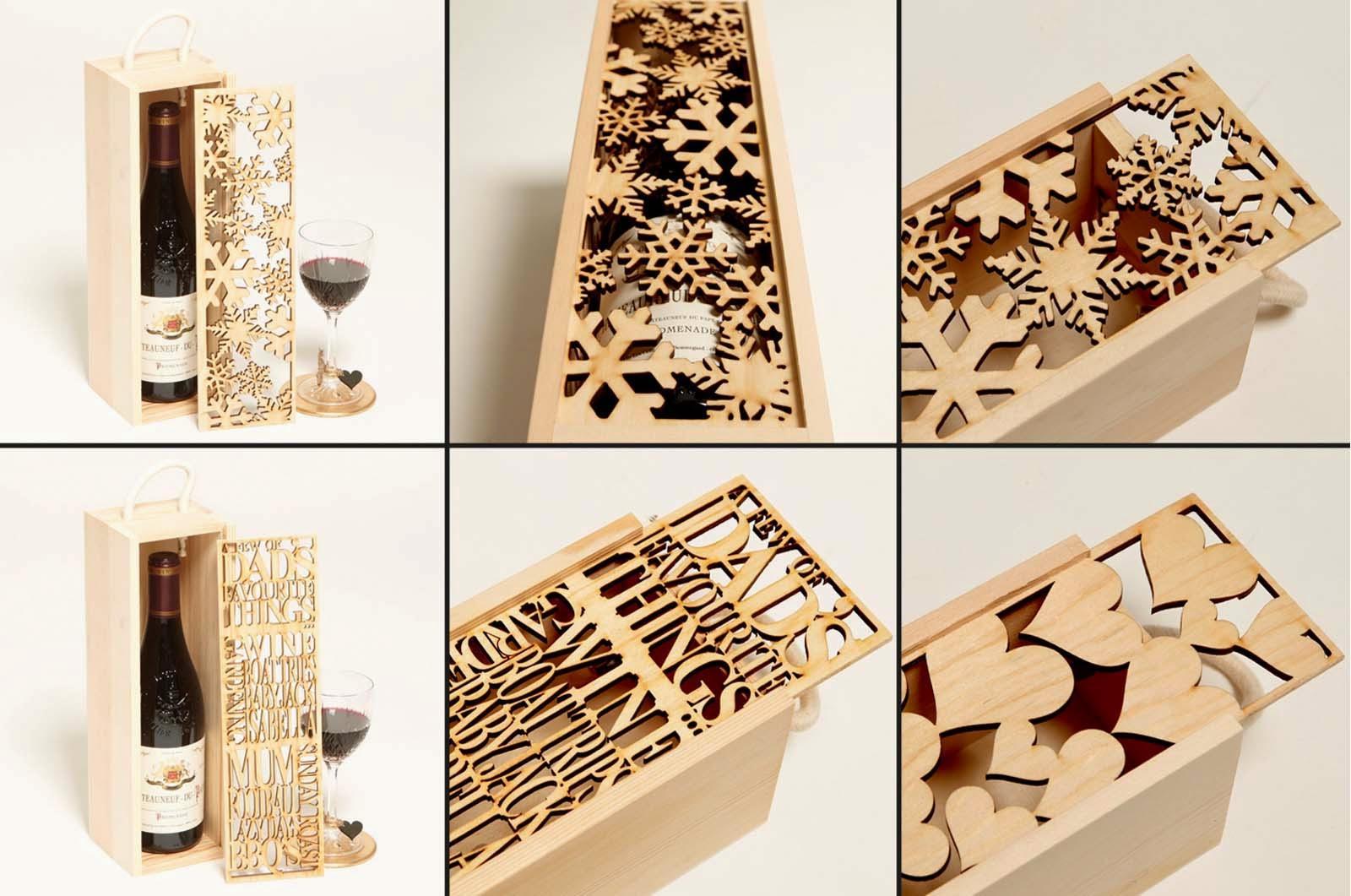 Стильная деревянная коробка под алкоголь