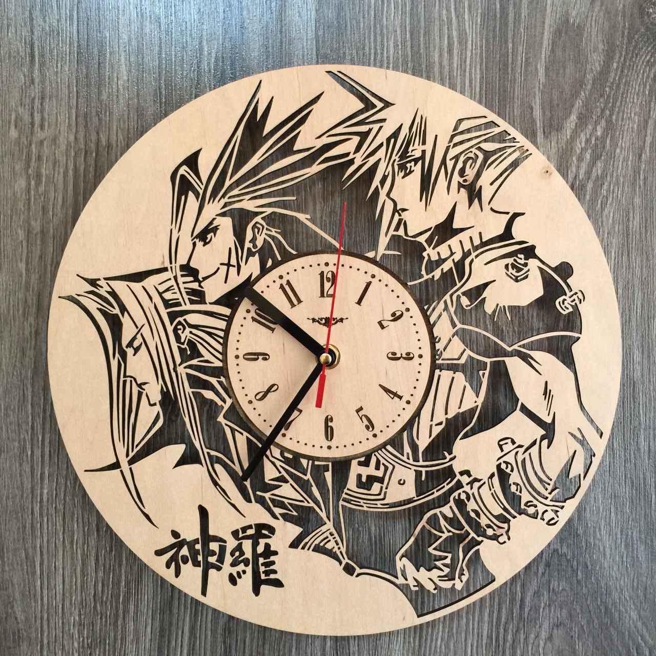 Декоративные часы из дерева «Последняя фантазия»