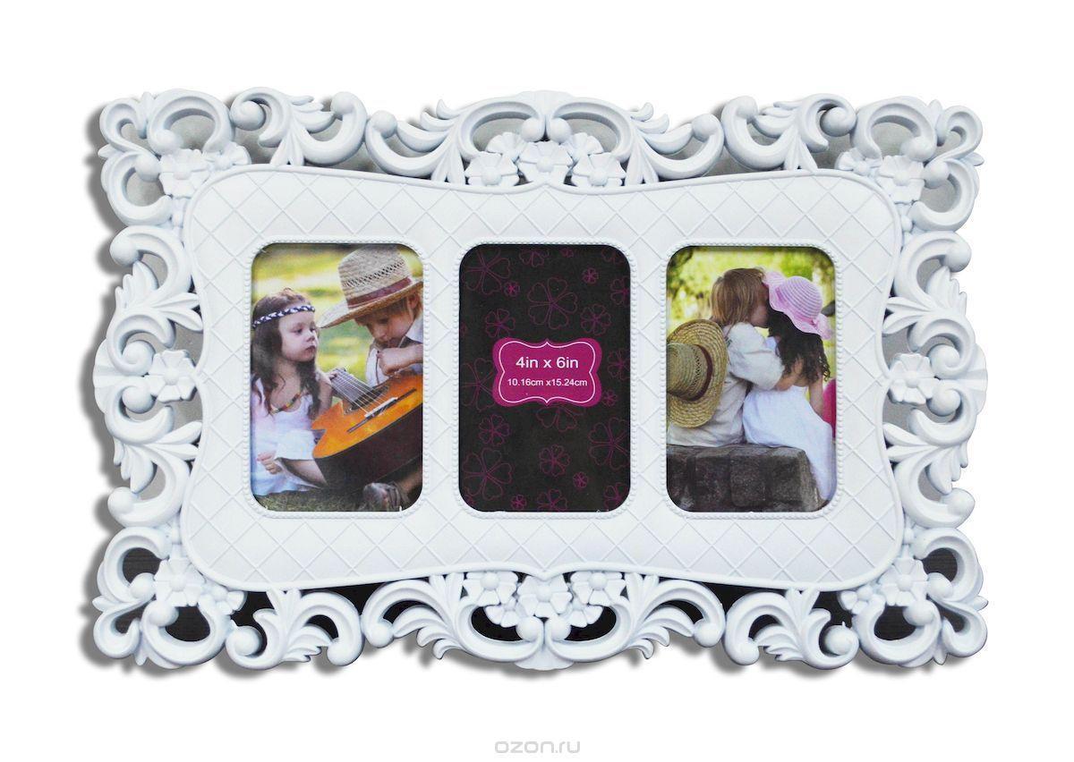 Белая фоторамка – коллаж - панно для детской