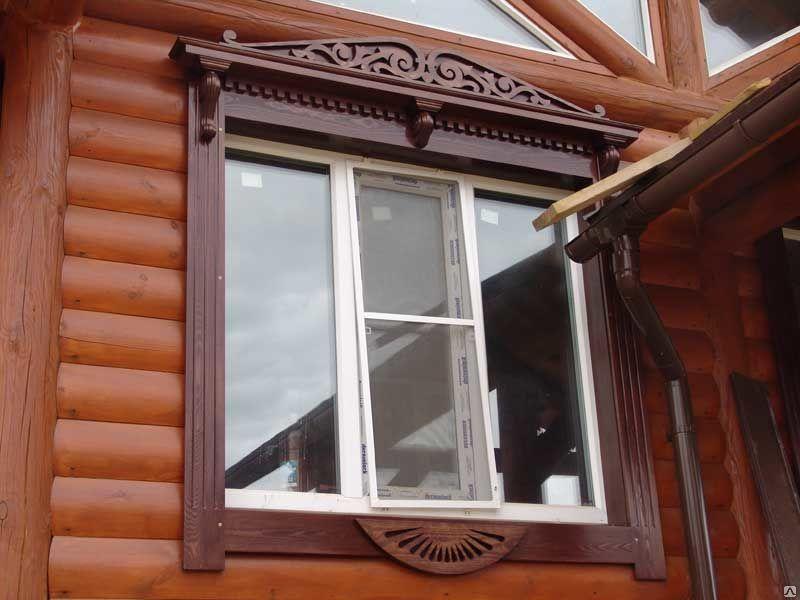 Современные деревянные наличники для пластиковых окон