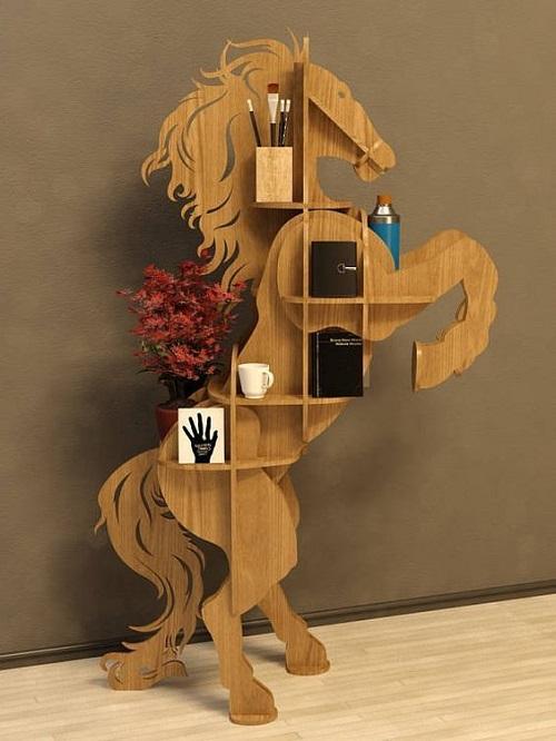 Грациозная фигура лошади