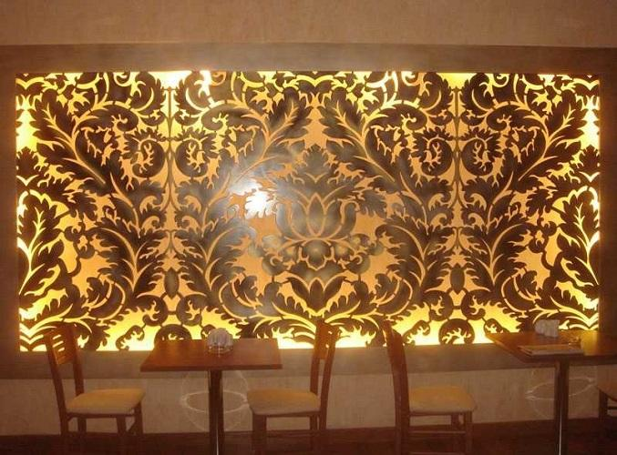 Шикарная роспись стен кафе