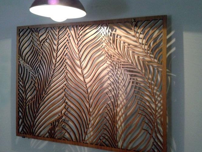 Декоративное панно на стену из дерева