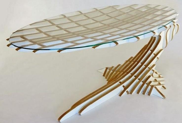 Чудо – стол из фанеры и стекла