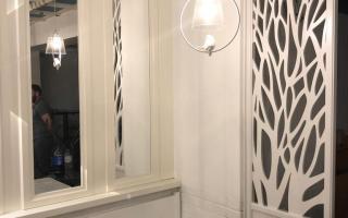 Стеновые панели с зеркалом для оформления интерьера кафе