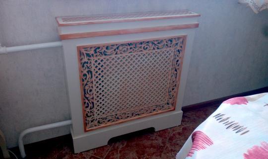 Декор экрана для батареи отопления